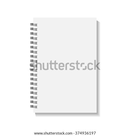 Cover Book or calendar ?? notebook blank isolated on white background. vector illustrations