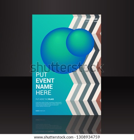 cover book template with gradient vector amazing design color modern style