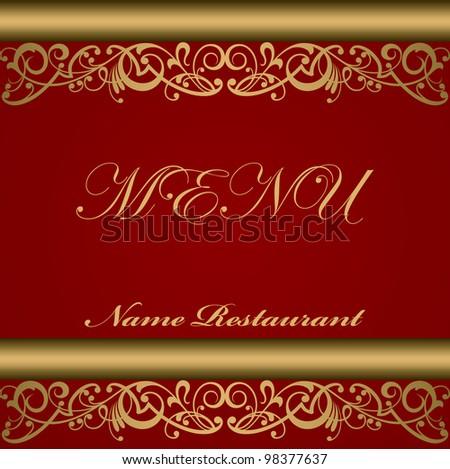 Cover celebratory menu restaurant vector design
