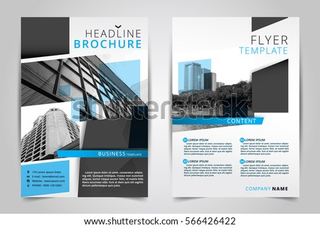 Business Vector Flyer Design Layout Template In A Size Download - Template for a brochure