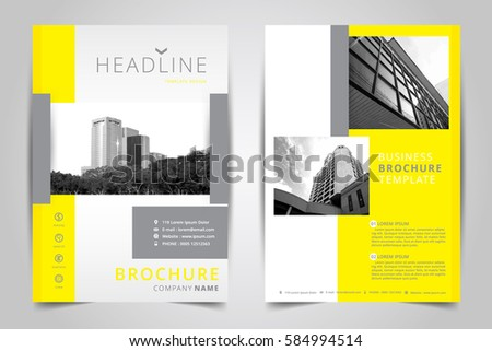 Clean White Business Brochure Template Design Download Free Vector