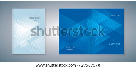 Cover design annual report, vector template brochures, flyers, presentations, leaflet, Invitation card, magazine ストックフォト ©