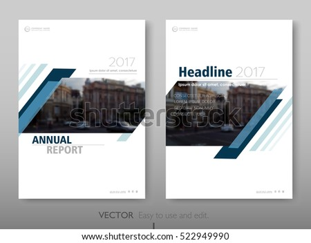 Cover design annual report,vector template brochures, flyers, presentations, leaflet, magazine a4 size. White with blue abstract background