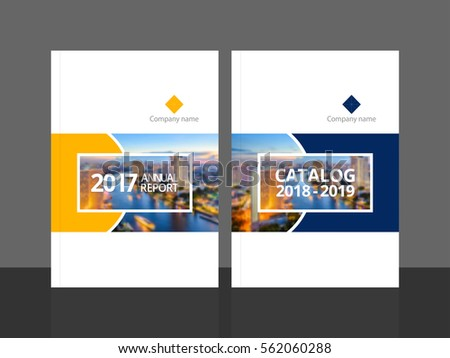 Cover design for annual report and business catalog, magazine, flyer or booklet. Brochure template layout. A4 cover vector EPS-10 sample image with Gradient Mesh. #562060288