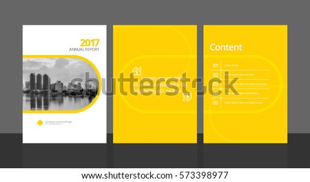 Cover design for annual report or business catalog, magazine, flyer, booklet and content page template. Brochure template layout. A4 cover vector EPS-10 sample image with Gradient Mesh.