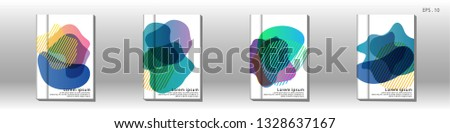 Cover design of the book is arranged with colorful gradients that are liquid and transparent. Creative illustrations for posters, web, landings, pages, covers, advertisements, and others #1328637167