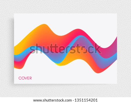 Cover design template. Abstract background with dynamic effect. Motion vector Illustration. Trendy gradients. Can be used for advertising, marketing, presentation.