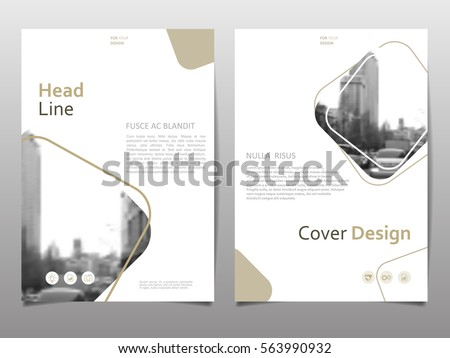 Cover design template for annual report. Abstract modern vector illustration. Cover presentation on a4. Abstract presentation templates.