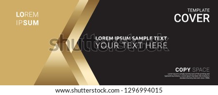 Cover design template. Leaflet advertising, Vinyl banner, Brochure and Poster design, Empty copy space, Flat style vector illustration artwork design. #1296994015