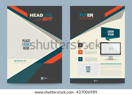 Cover Design Template Lines And Polygon Style For Annual Report Brochure Leaflet Flyer Business