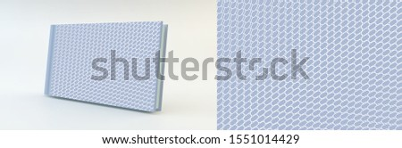 Cover design template. Many small ovals. Abstract background.3d vector illustration.
