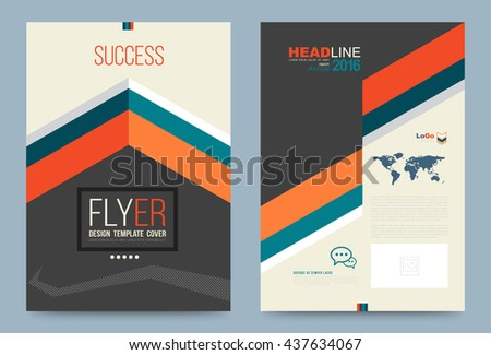 Cover Design Template Success Style For Annual Report Brochure Leaflet Flyer Business Plan Front