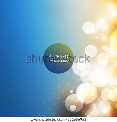 Cover Design Template with Abstract, Blurred, Colorful Background