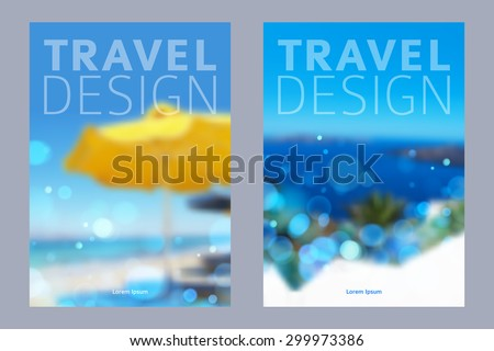 Cover design vector illustration - travel theme. Brochure flayer poster booklet magazine concept.