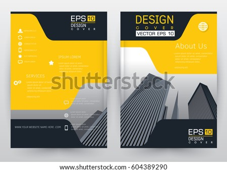 Cover Design Vector template set  Brochure, Annual Report, Magazine, Poster, Corporate Presentation, Portfolio, Flyer, Banner, Website. A4 size
