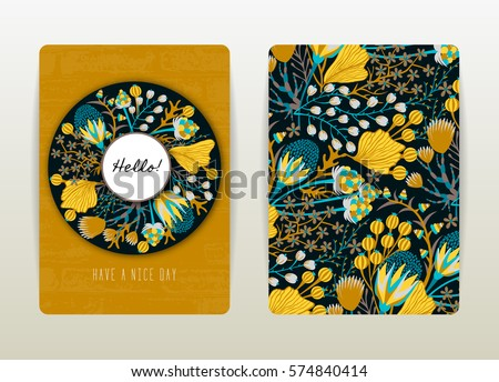 cover design with floral