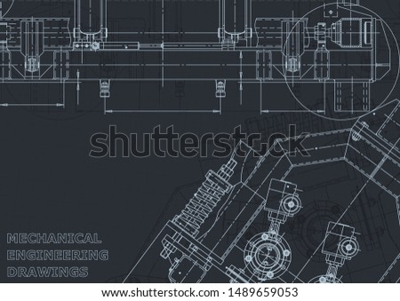 Cover, flyer, banner, background. Engineering drawing, technical documentation