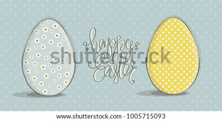 Cover For Greeting Cards To Day Happy EasterThere Are Two Easter Eggs In Different
