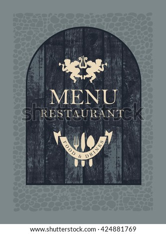 cover for restaurant menu on