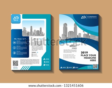 cover, layout, brochure, flyer design for company, event, and report #1321451606