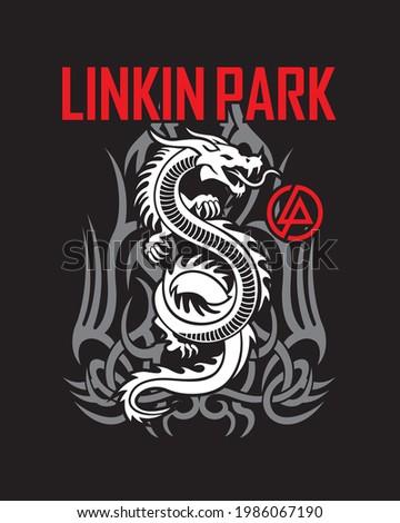 cover linkin park dragon vector