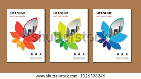 Cover of a brochure or layout for flyer or magazine, business template.