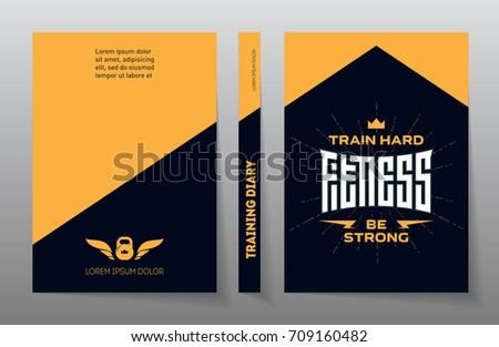 Cover Of The Training Diary Fitness