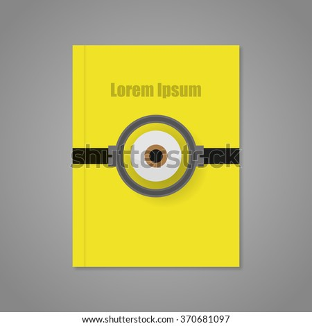 Cover of yellow background with  an eye