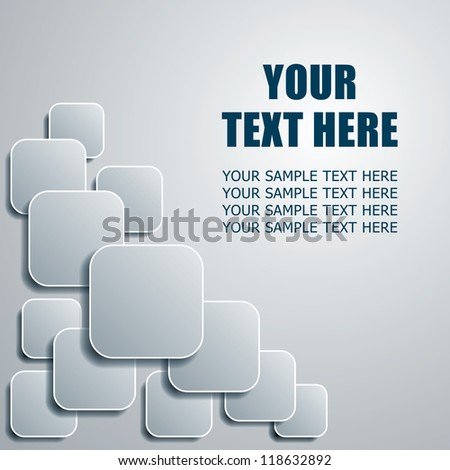 cover or title page design background with toned rounded squares