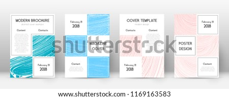 Cover page design template. Business brochure layout. Bewitching trendy abstract cover page. Pink and blue grunge texture background. Amazing poster.