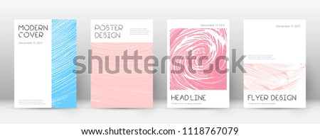 Cover page design template. Minimal brochure layout. Captivating trendy abstract cover page. Pink and blue grunge texture background. Wondrous poster.