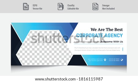 Cover Photo Design for social media. corporate business theme