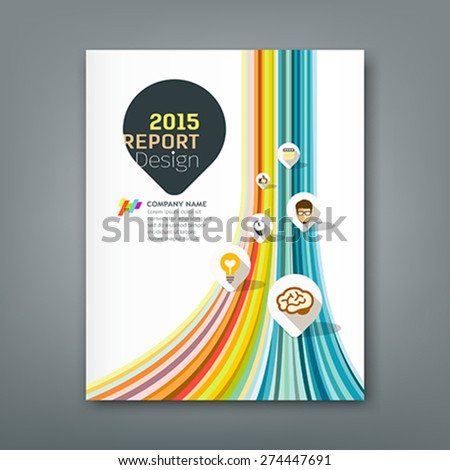 cover report colorful lines