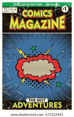 cover template comic book
