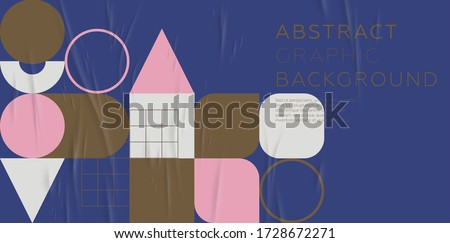 Cover template with bauhaus, memphis and hipster style graphic geometric elements. Applicable for placards, brochures, posters, covers and banners. Vector illustrations. Zdjęcia stock ©
