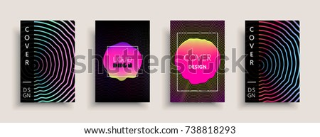 cover templates design set with