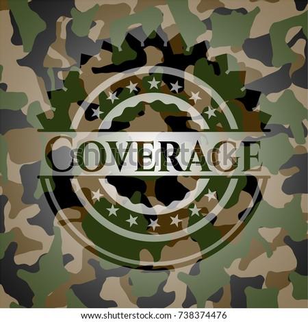 coverage camouflaged emblem