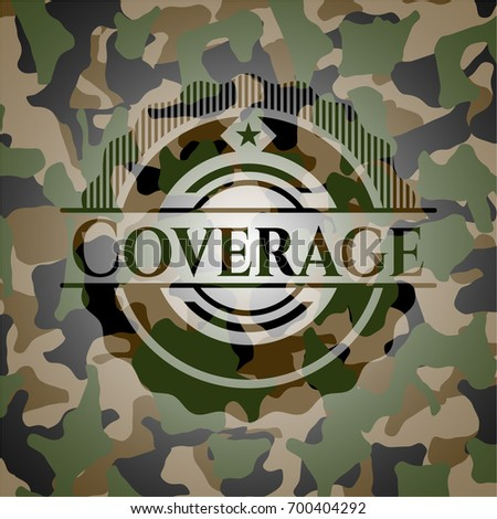 coverage on camouflaged pattern