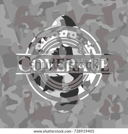 coverage on grey camouflaged