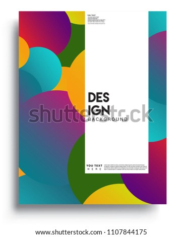 Covers background template with Abstract colorful design and modern abstract pattern. Vector templates for modern design, cover, template, decorated, brochure.