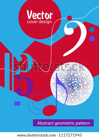 Covers templates set with bauhaus, memphis and hipster style graphic geometric elements. Applicable for placards, brochures, posters, covers and banners. #1117271945