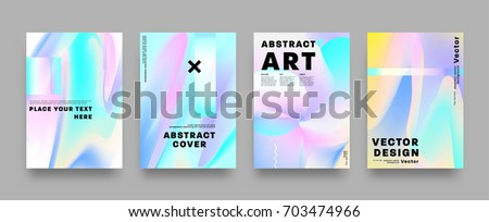 Covers templates set with bauhaus, memphis and hipster style graphic geometric elements. Applicable for placards, brochures, posters, covers and banners. Vector illustrations.