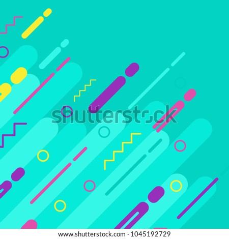 Covers with flat geometric pattern. Cool colorful backgrounds. Applicable for Banners, Placards, Posters, Flyers. Eps10 vector template. #1045192729