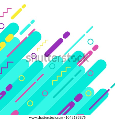 Covers with flat geometric pattern. Cool colorful backgrounds. Applicable for Banners, Placards, Posters, Flyers. Eps10 vector template. #1045193875