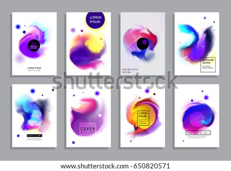 Covers with minimal design. Abstract backgrounds. Vector frame for text Modern Art graphics for hipsters