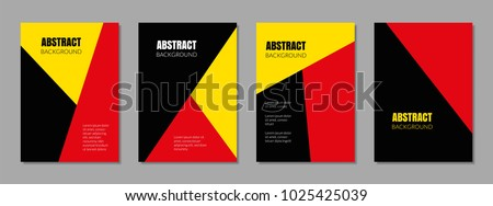 covers with red  yellow  black