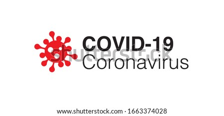 Covid-19 Coronavirus concept inscription typography design logo. World Health organization WHO introduced new official name for Coronavirus disease named COVID-19, dangerous virus vector illustration