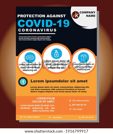 COVID-19 Coronavirus, COVID-19 Awareness Flyer, Coronavirus Awareness,Useful, graphic, informative bannerpostercampaignad design. Photo stock ©