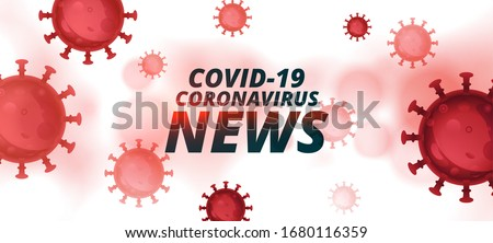 covid-19 coronavirus latest news and updates banner design