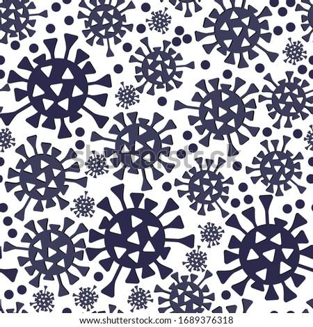 Covid-19 seamless pattern backgrouns. Virus Infection. Flat background.